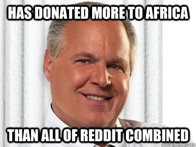 Has donated more to Africa Than all of reddit combined