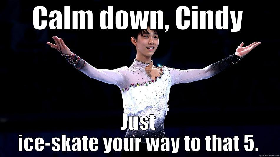 CALM DOWN, CINDY JUST ICE-SKATE YOUR WAY TO THAT 5. Misc