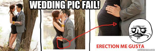 Wedding Pic fail! Bottom caption  Me gusta