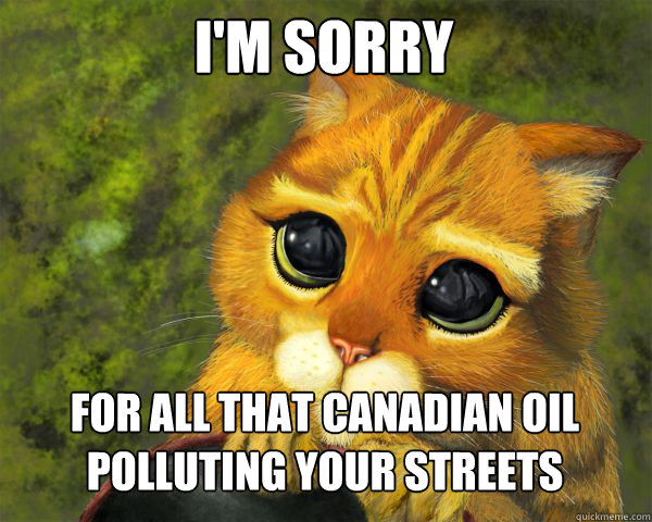 I'm sorry for all that canadian oil polluting your streets - I'm sorry for all that canadian oil polluting your streets  Misc