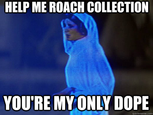 Help me roach collection you're my only dope
