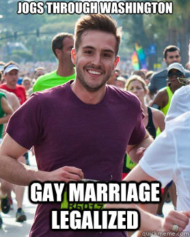 Jogs through washington gay marriage legalized - Jogs through washington gay marriage legalized  Ridiculously photogenic guy