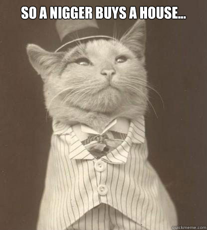 so a nigger buys a house...  - so a nigger buys a house...   Aristocat