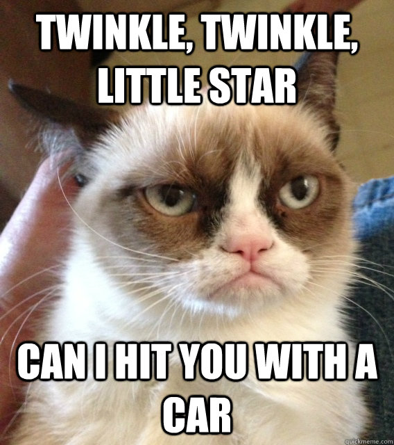 twinkle, twinkle, little star can i hit you with a car - twinkle, twinkle, little star can i hit you with a car  Misc