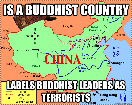 is a Buddhist country labels buddhist leaders as terrorists