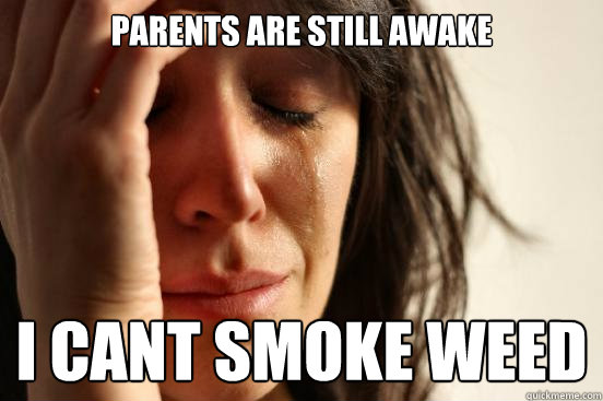 Parents are still awake i cant smoke weed - Parents are still awake i cant smoke weed  First World Problems