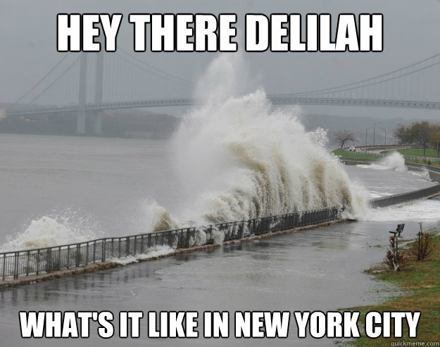 hey there delilah what's it like in new york city  Hurricane Sandy
