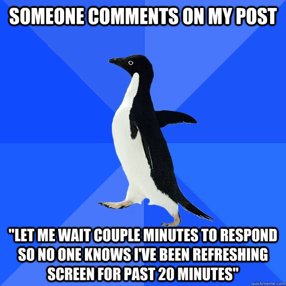 Someone comments on my post