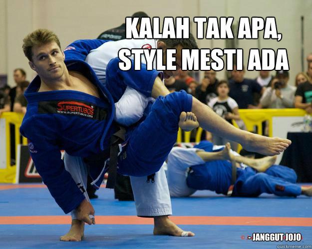 Kalah tak apa,  style mesti ada - Janggut Jojo - Kalah tak apa,  style mesti ada - Janggut Jojo  Ridiculously Photogenic Jiu Jitsu Guy