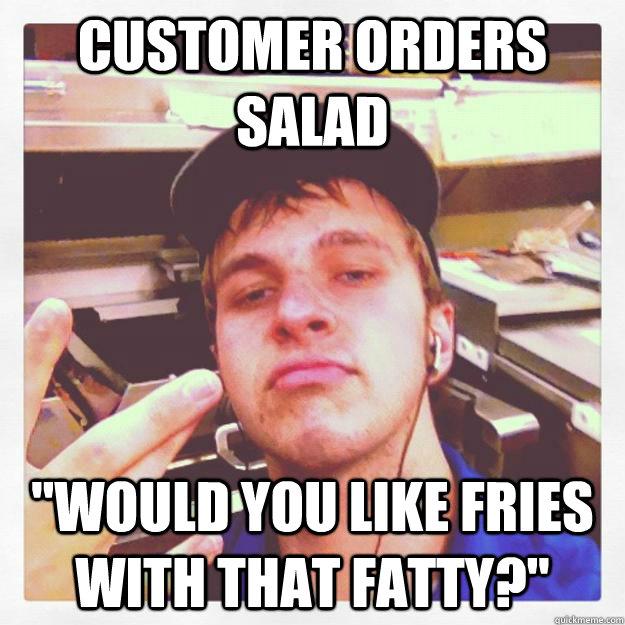 Customer orders salad