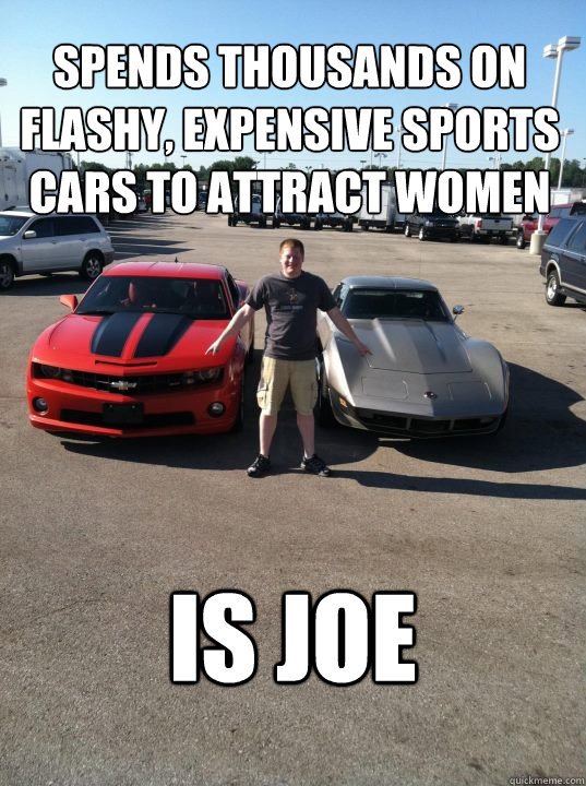 Spends Thousands On Flashy Expensive Sports Cars To Attract Women