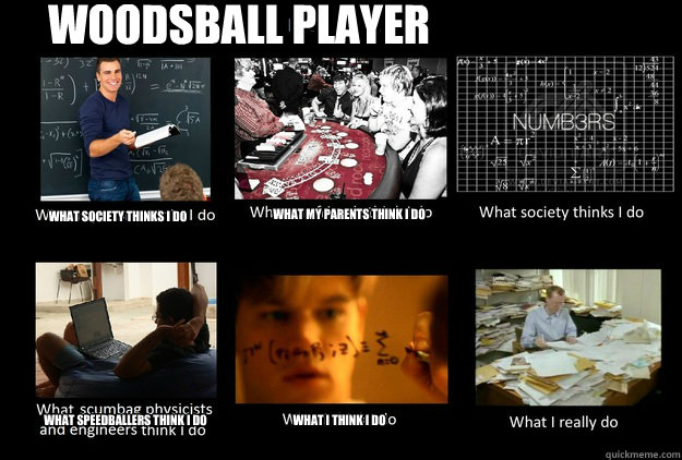 Woodsball Player What society thinks I do What my parents think I do What speedballers think I do What I think I do
