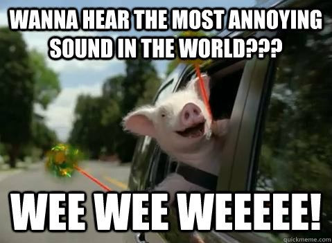 wanna hear the most annoying sound in the world??? wee wee weeeee