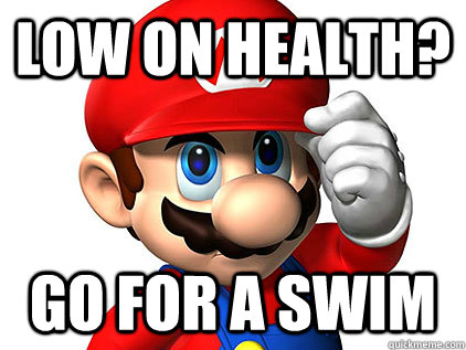 LOW ON HEALTH? GO FOR A SWIM - LOW ON HEALTH? GO FOR A SWIM  Misc