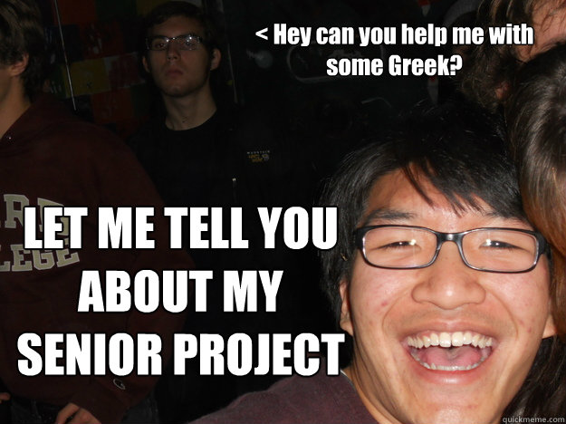 Help with my senior project?