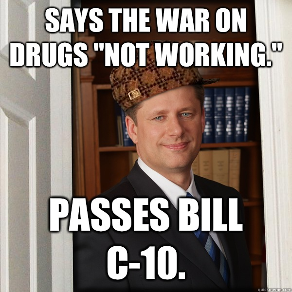 Says the war on drugs