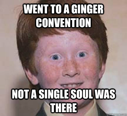 WENT TO A GINGER CONVENTION NOT A SINGLE SOUL WAS THERE - WENT TO A GINGER CONVENTION NOT A SINGLE SOUL WAS THERE  Over Confident Ginger