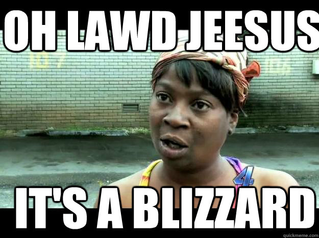 OH LAWD JEESUS IT'S A BLIZZARD  Sweet Brown - Hurricane Sandy Aint Nobody Got Time For That