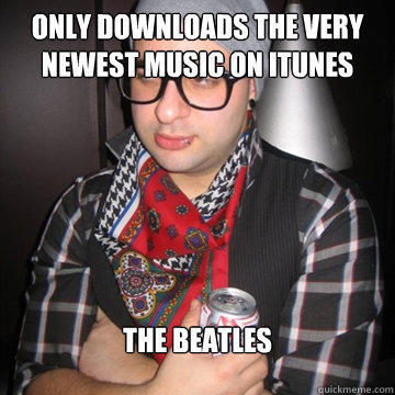 only downloads the very newest music on itunes the beatles