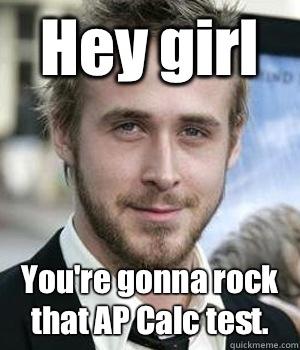 e4fc305690eefb193803eef0e8f25581fd52f88e0a6f78e46ec0a471a16b4ec5 hey girl you're gonna rock that ap calc test misc quickmeme