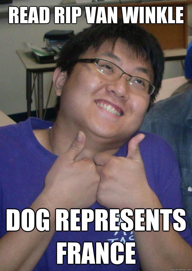 Read rip van winkle Dog represents france