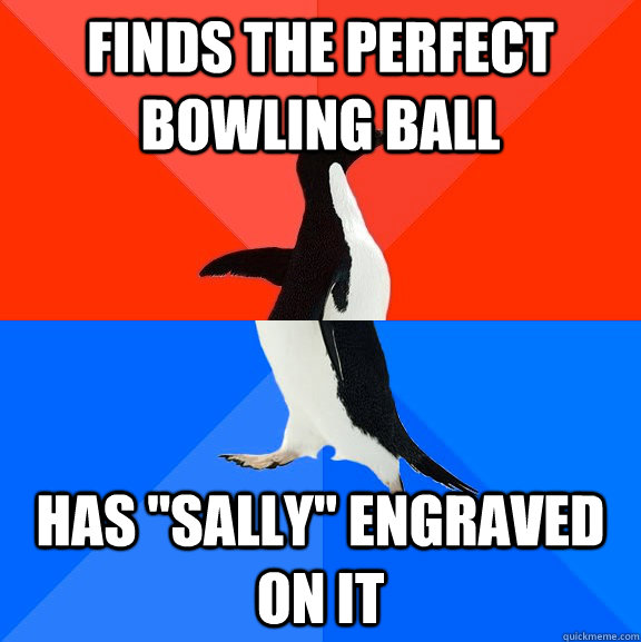 finds the perfect bowling ball has
