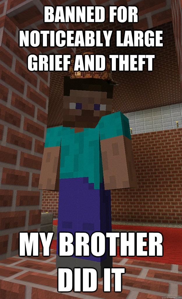 Minecraft Scumbag Steve Memes Quickmeme