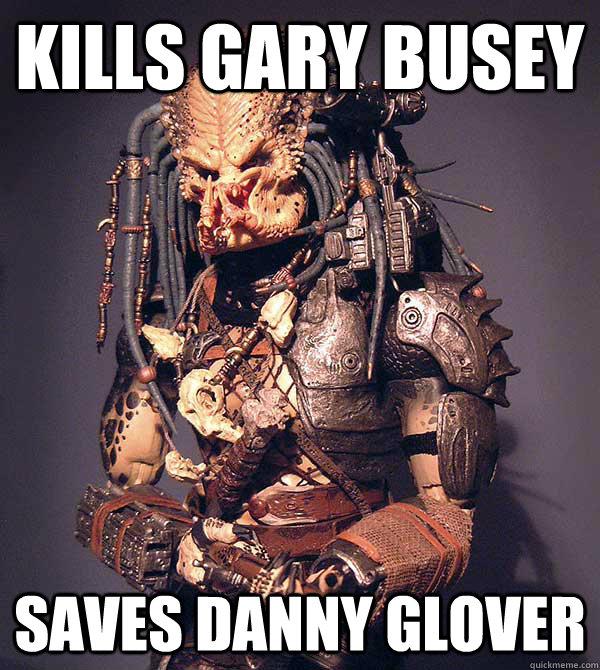 Kills Gary Busey Saves Danny Glover