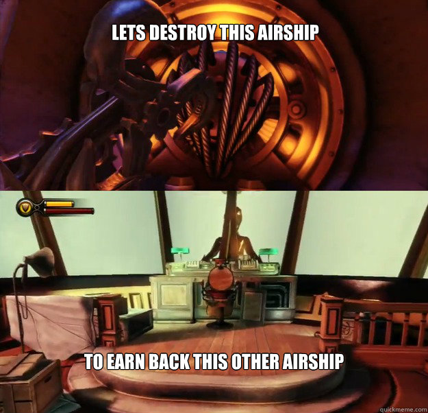 Lets destroy this airship to earn back this other airship - Lets destroy this airship to earn back this other airship  Misc