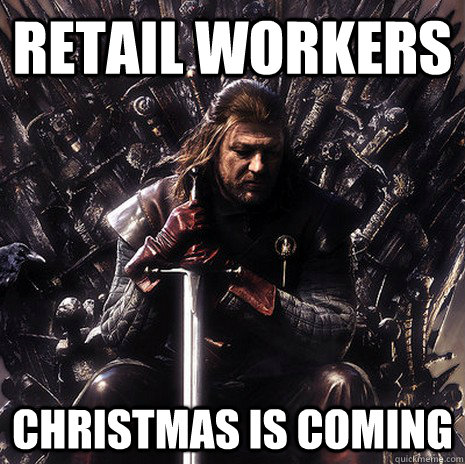retail workers Christmas is coming