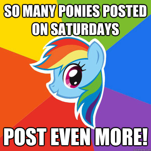 so many ponies posted on saturdays post even more!
