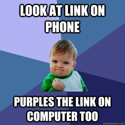 LOOK AT LINK ON PHONE PURPLES THE LINK ON COMPUTER TOO - LOOK AT LINK ON PHONE PURPLES THE LINK ON COMPUTER TOO  Success Kid