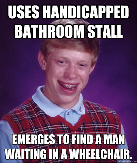 Uses Handicapped Bathroom Stall Emerges To Find A Man