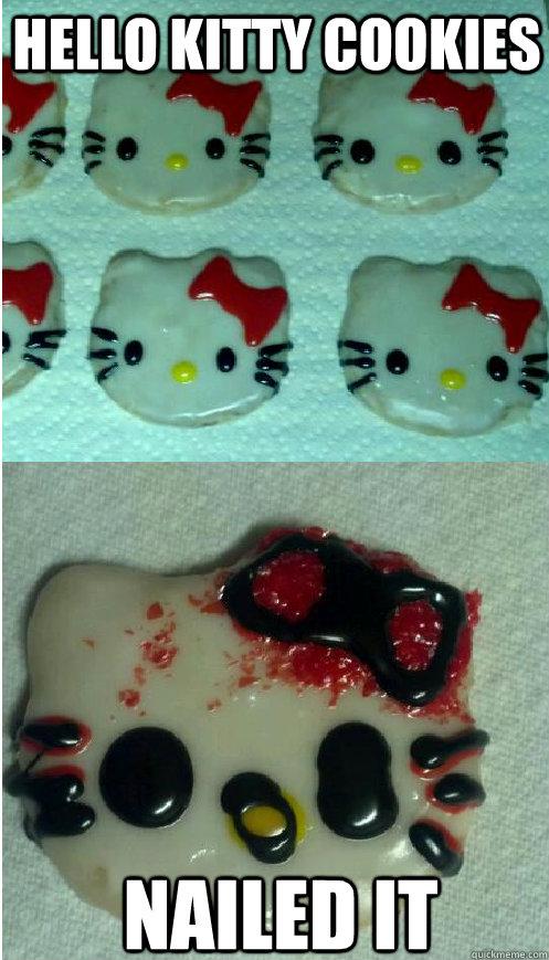 Hello Kitty cookies nailed it