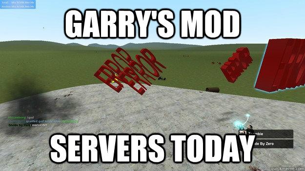 garry's mod servers today  GMod