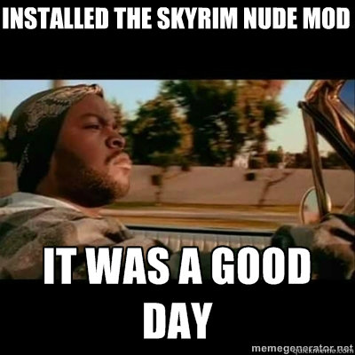 installed the skyrim nude mod - installed the skyrim nude mod  ICECUBE