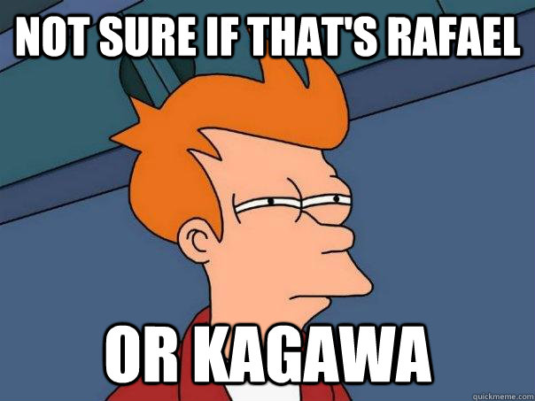 Not sure if that's Rafael Or Kagawa - Not sure if that's Rafael Or Kagawa  Futurama Fry