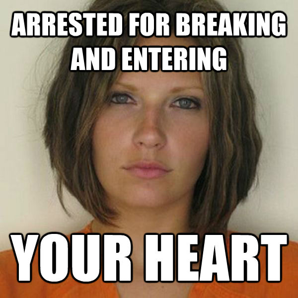 ARRESTED FOR BREAKING AND ENTERING YOUR HEART - ARRESTED FOR BREAKING AND ENTERING YOUR HEART  Attractive Convict