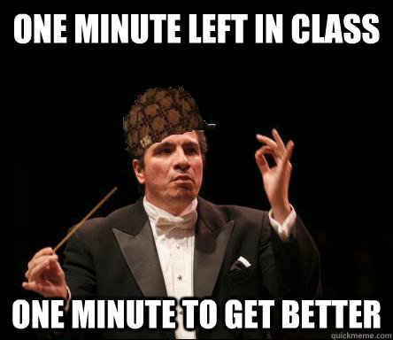 one minute left in class one minute to get better