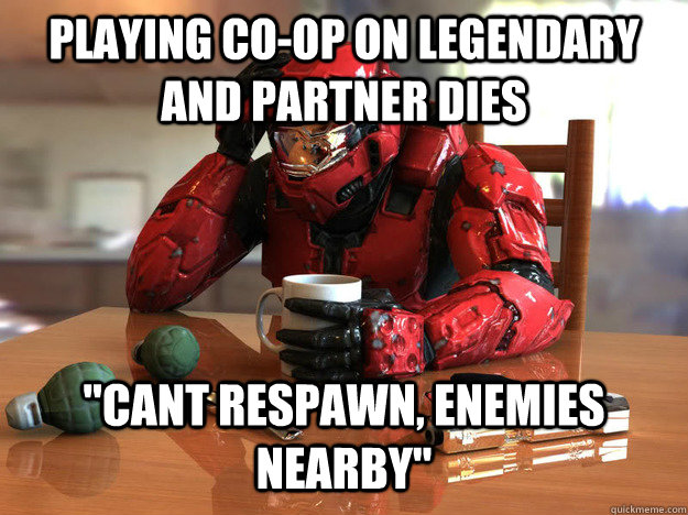 Playing co-op on legendary and partner dies