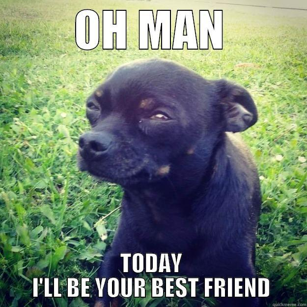 OH MAN tODAY - OH MAN TODAY I'LL BE YOUR BEST FRIEND Skeptical Dog