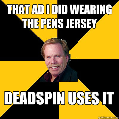 That ad i did wearing the pens jersey deadspin uses it - That ad i did wearing the pens jersey deadspin uses it  John Steigerwald