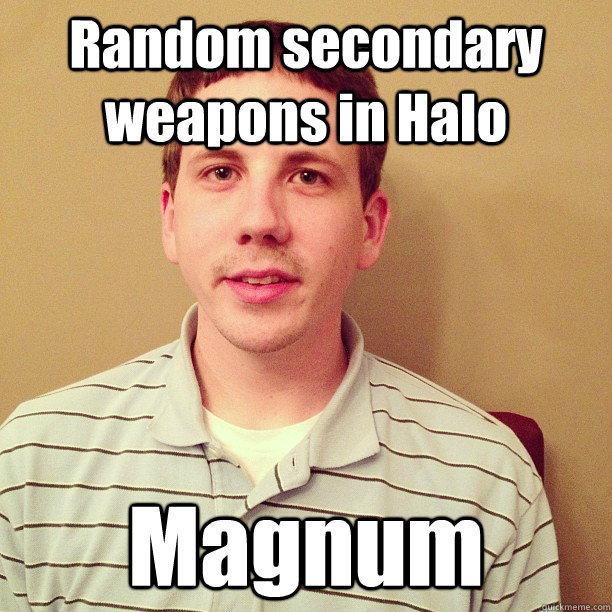Random secondary weapons in Halo Magnum