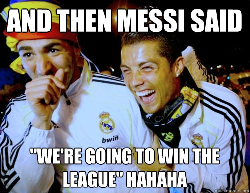 and then messi said