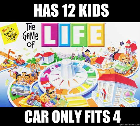 Has 12 kids car only fits 4