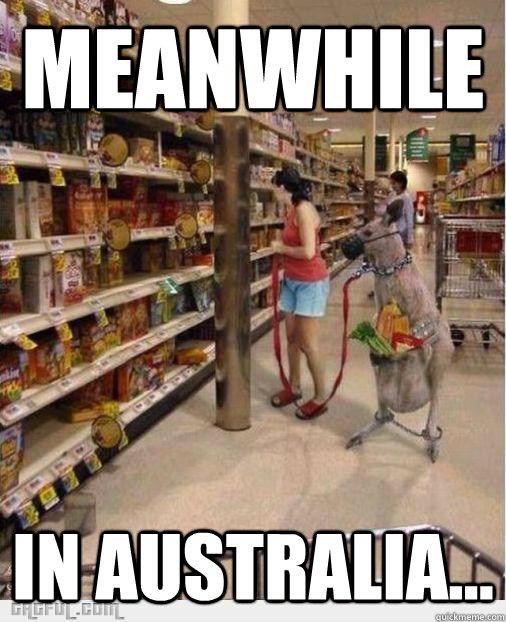 Meanwhile In Australia...  Meanwhile in Australia