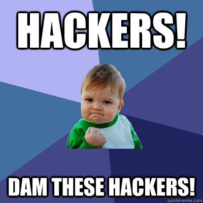 Hackers! Dam These Hackers!  Success Kid
