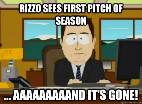 Rizzo sees first pitch of season ... aaaaaaaaand it's gone! - Rizzo sees first pitch of season ... aaaaaaaaand it's gone!  South Park Banker