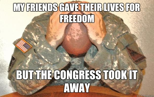 My friends gave their lives for freedom but the Congress took it away