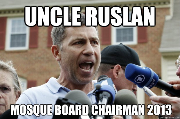 UNCLE RUSLAN  Mosque Board Chairman 2013